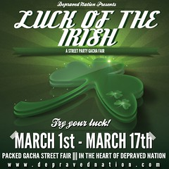 Depraved - Luck of the Irish Gacha Fair Flier 2013 1x1
