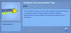 A Meteor the Sun Exhaled Sign