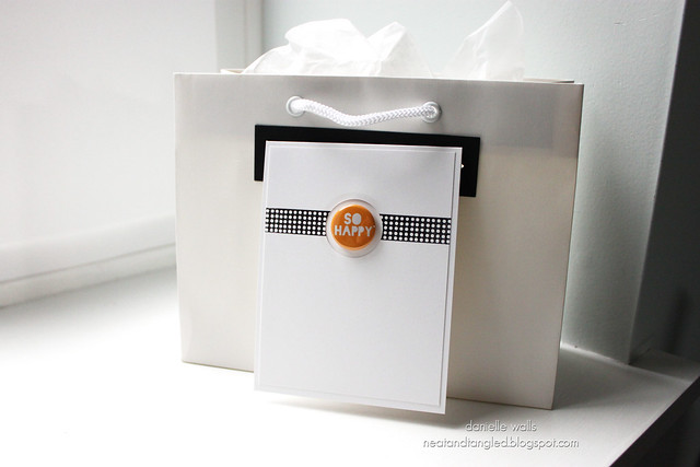 Gift Packaging using Card Hanger Die