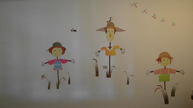 小閣樓的牆壁彩繪