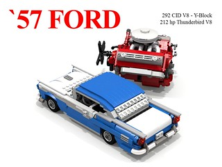 Ford 1957 Fairlane Hardtop + 292 CID Thunderbird V8