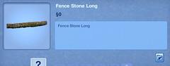 Fence Stone Long