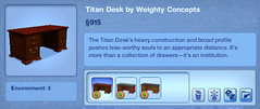 Titan Desk by Weighty Concepts