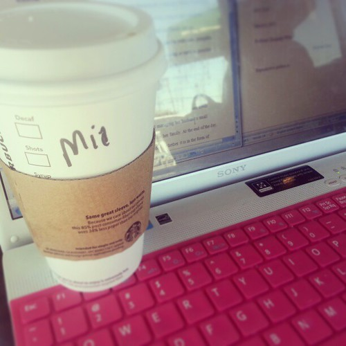 Midterm essay writing and soy vanilla spice latte sipping #starbucks #coffee #midterms #studentlife