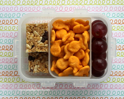 Snack Lock & Lock box with granola bar fishies grapes