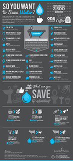 Saving Water infographic design