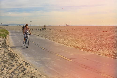 Biking in Venice Beach