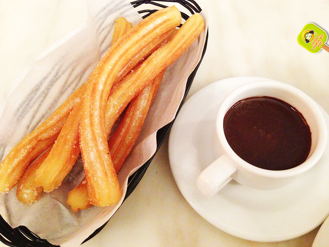 la churreria - churros with chocolate sauce