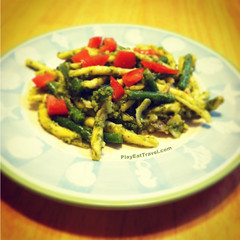 Green bean Pasta Pesto