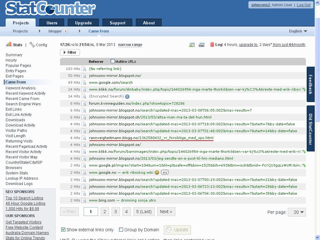statcounter linker blogg