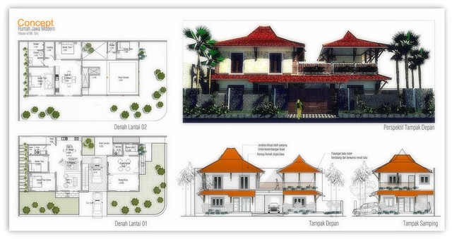 Konsep Rumah Modern Model Atap Jawa. #Mr.Urs&Mrs.Utami_Swiss
