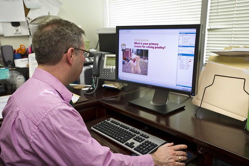 Scott Kravetz participates in the Bird Health Awareness Week webinar. USDA photo.Scott Kravetz participates in the Bird Health Awareness Week webinar. USDA photo.