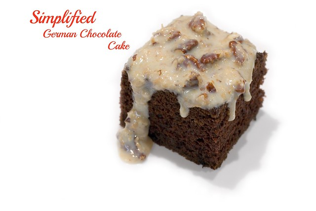 Simplified German Chocolate Cake