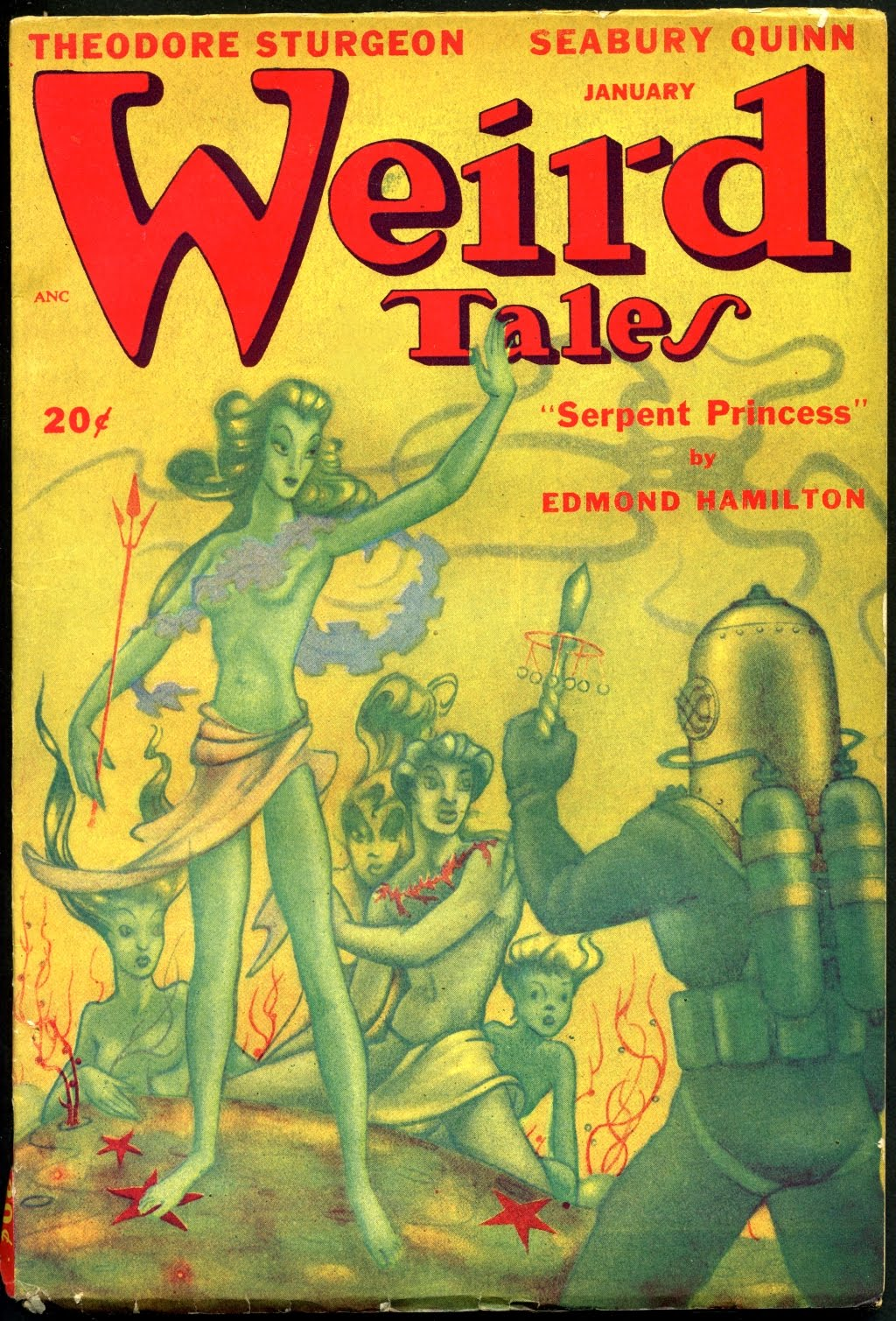 Boris Dolgov - Cover for Weird Tales, Volume 40, Issue 2, 1948