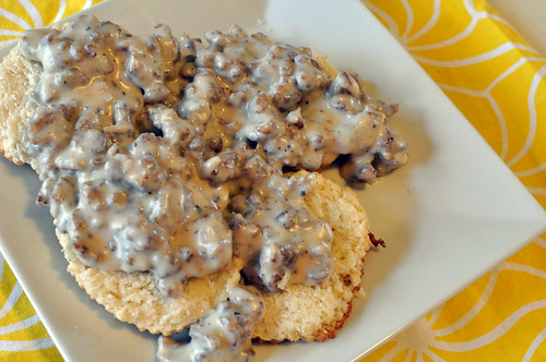 Biscuits with Maple Sausage Gravy 3
