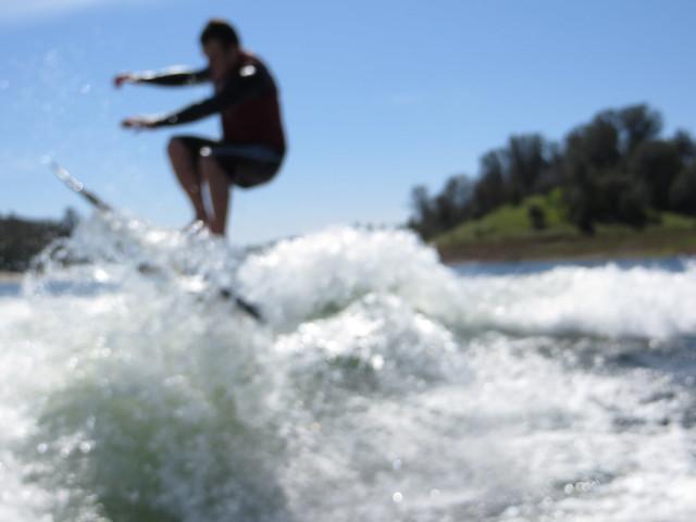 Mid March Wakesurfing 412