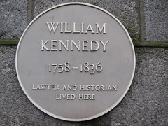 Photo of William Kennedy yellow plaque