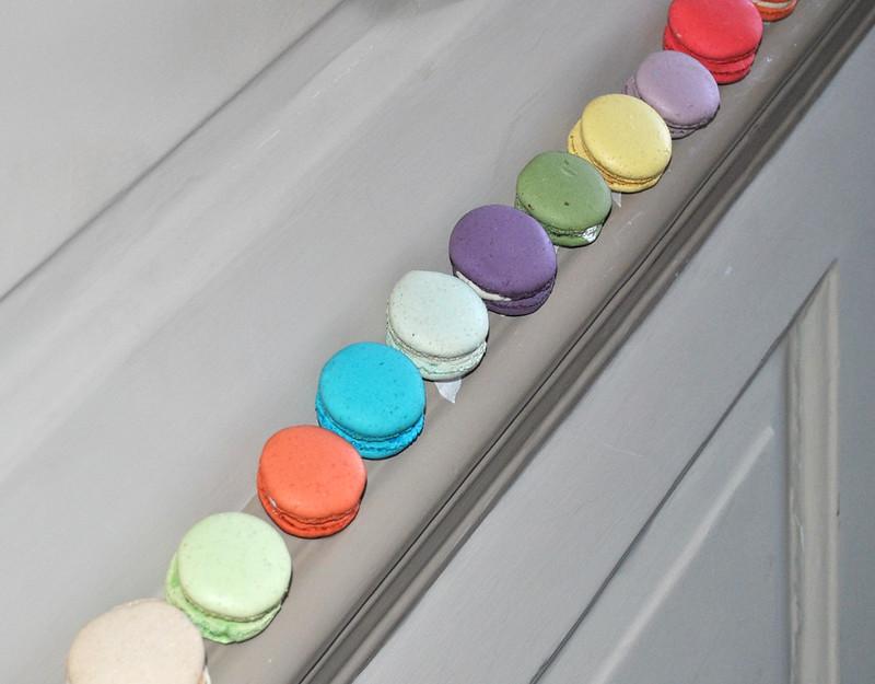 Macaron adorned banisters