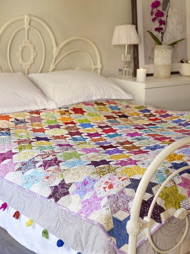EPP 60 degree diamond star quilt