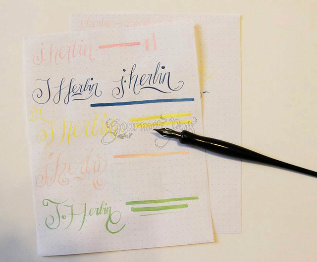 J. Herbin Pearlescent Ink Writing Sample