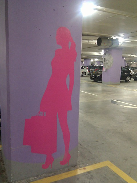 ladies only parking mid valley