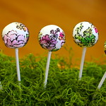 Watercolor Themed Cake Pops