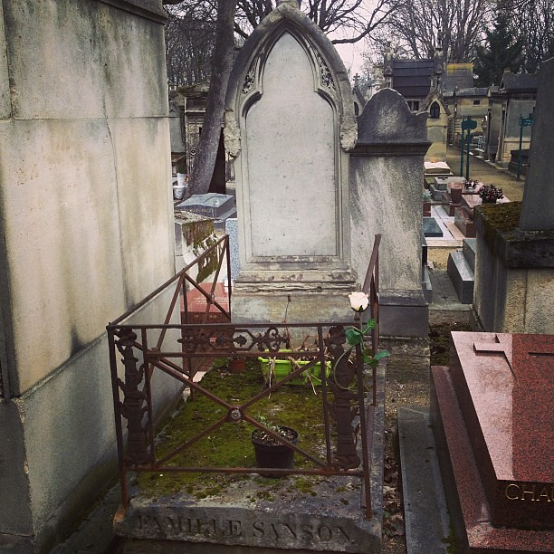 Charles henri sanson 39 s grave he was the executioner during the french re - Marie antoinette grave ...