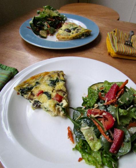 Crustless Spinach Quiche