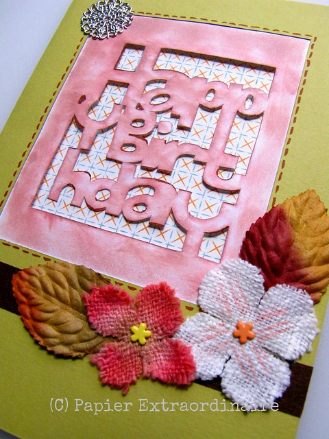 Paper-carved Birthday Card