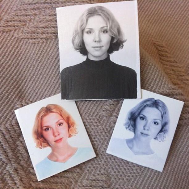 @danissimmo нашла мои старые фоточки :) это 2003й год! На верхней волосы внизу окрашены в красный!!