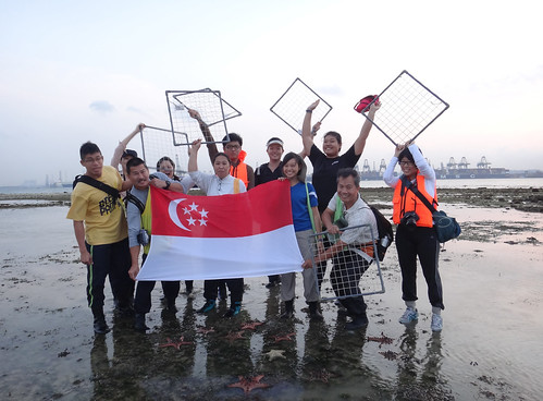 TeamSeagrass volunteers celebrating National Day on Cyrene Reef