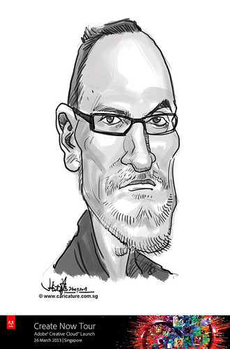 digital caricature for Adobe Create Now Tour - speaker 2
