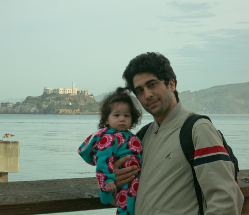Scarlett and Dad in Front of Alcatraz (I Hate this Day)
