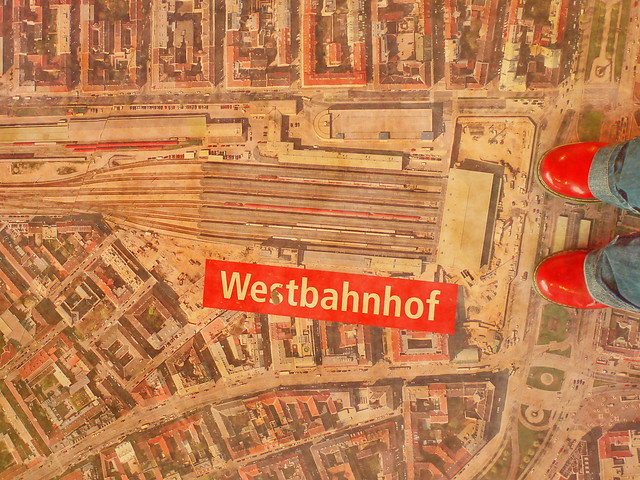 At Western Railway Station during Demolition and Rebuilding - For Odile -- Im Bahnorama Hauptbahnhof Wien Am Südbahnhof beim Westbahnhof stehen Gasgasse Lichtgasse Zwölfergasse Leydoltgasse