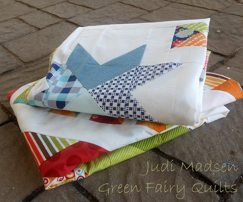 Quilt tops by Judi Madsen