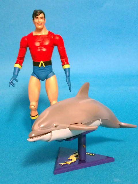 Aqualad and Darwin the Dolphin