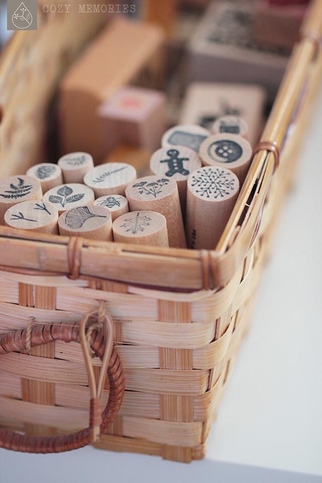 stamp basket