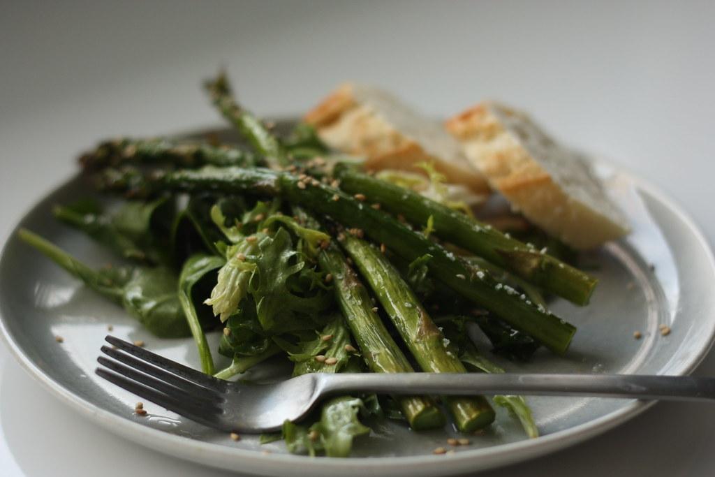 Roasted Asparagus Salad. Rooted Vegan