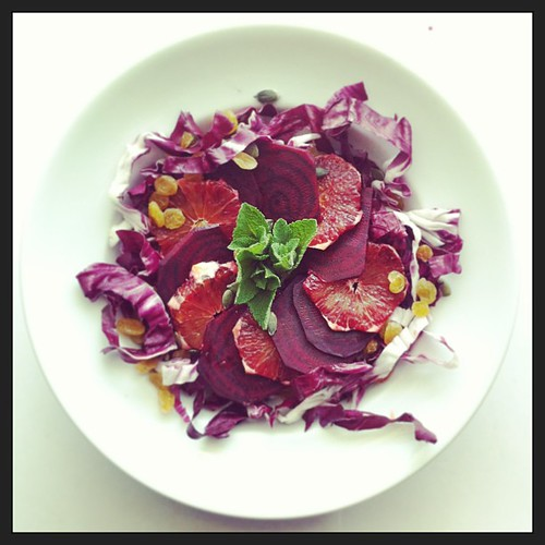 Blood orange, beet root and radicchio by Salad Pride