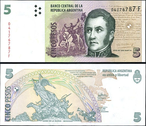 5 Pesos Argentína 2003, Pick 353