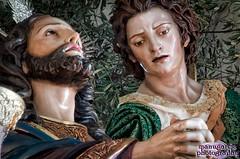 Jesús de la Oración en el Huerto de Linares, preparado para procesionar al día siguiente