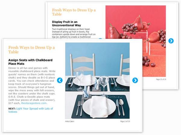 Table Decoration ideas via RealSimple