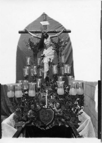 Cristo del Calvario en San Cipriano  © Fondo Rodríguez. Archivo Histórico Provincial. JCCM. Signatura CMC-295-6