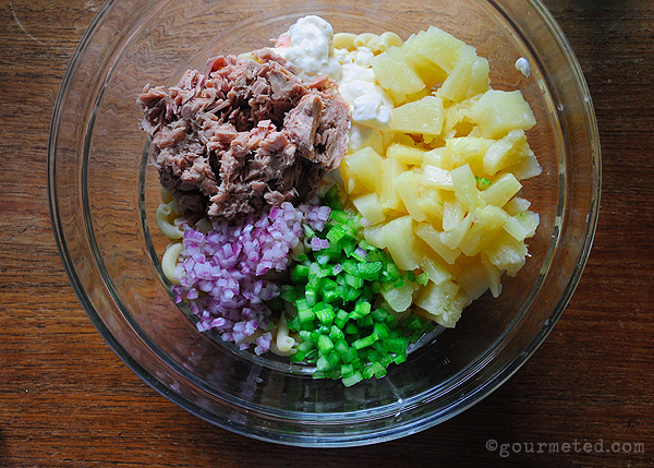 Tuna Pineapple Macaroni Salad