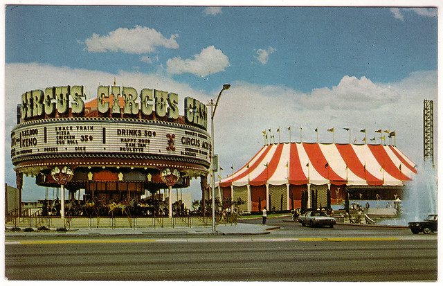 Retro Las Vegas 1960s Circus Circus Casino Postcard