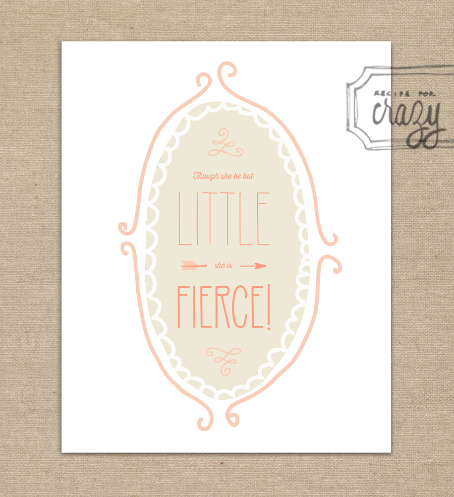 little but fierce - 8x10 Print