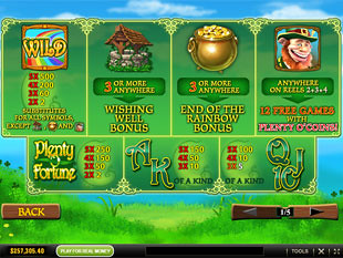 free Plenty O'Fortune slot mini symbol
