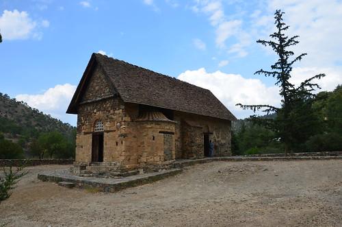 Das Scheunendach von der Kirche bei Asinou