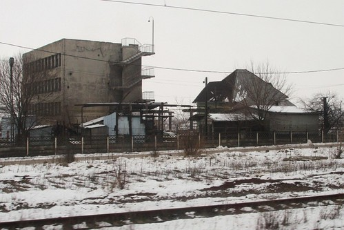 Derelict buildings in Valea Calugareasca