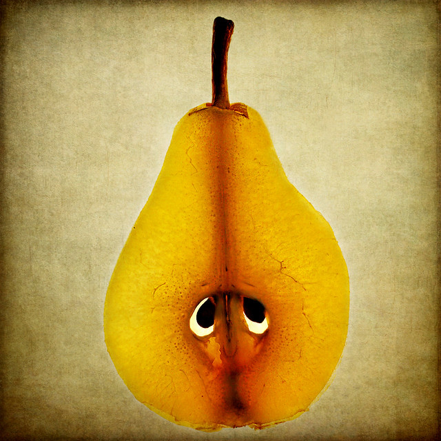 a sad pear of eyes